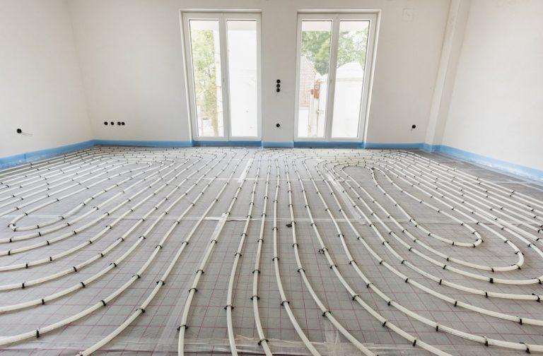 Eine Fußbodenheizung