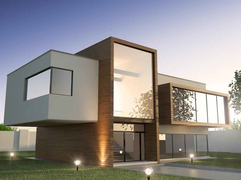 Modernes Haus mit einem Flachdach